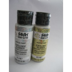Tinta acrílica com glitter