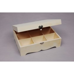 Caixa de chá com base ondulada 9 divisórias