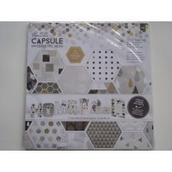 Bloco de papel de scrap Capsule Geometric Mono