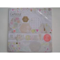 Bloco de papel de scrap Capsule Geometric Neon