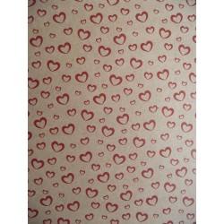 Cartolina Kraft Corações