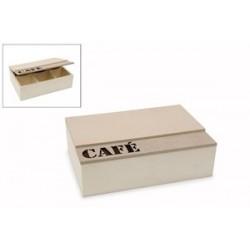 Caixa de café 6 divisórias