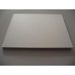 Livro de honra horizontal metalizado branco A4