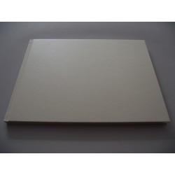 Livro de honra horizontal metalizado creme A4