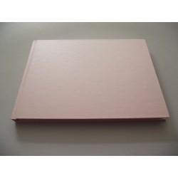 Livro de honra horizontal metalizado rosa A5