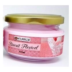 Biscuit flexível rosa