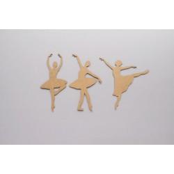 Conjunto de 3 bailarinas