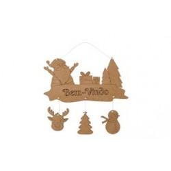 Placa de pendurar Natal