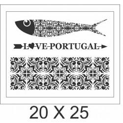 """Stencil """"LOVE PORTUGAL"""""""