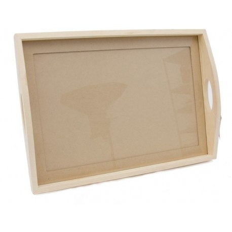 Tabuleiro com vidro 47x33,5