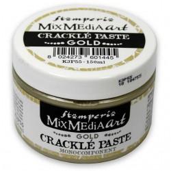Pasta Craquele Dourada Mix Media