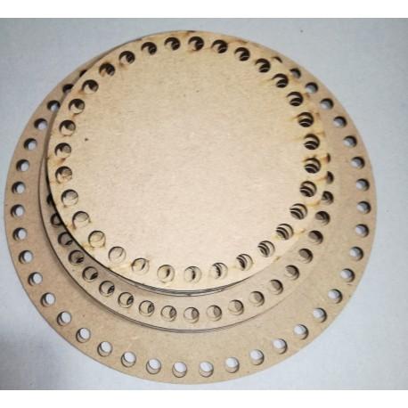 Placa com furos redonda 12x0.3 cm