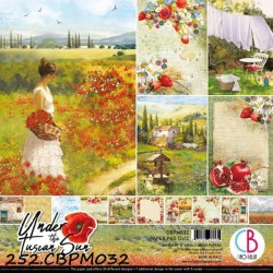 BLOCO SCRAPBOOK DUPLA FACE 'UNDER THE TUSCAN SUN 30.5X30.5 CM