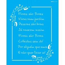 Stencil Poema Flores