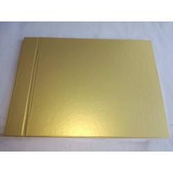 Livro de honra Dourado metalizado horizontal A4