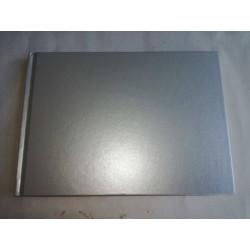 Livro de Honra A5  Prata Metalizado horizontal