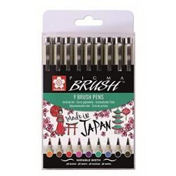 Pigma Sakura Brush 9 cores