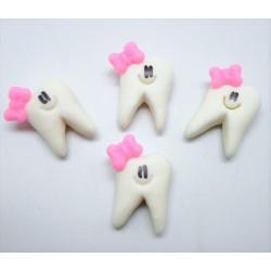 Dentinho com laço rosa