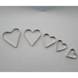 Conjunto de 5 pcs  cortador coração