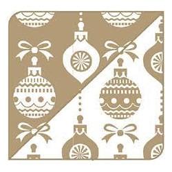 Cartolina dupla face Bolas de natal Dourado