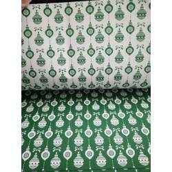 Cartolina dupla face Bolas de natal Verde