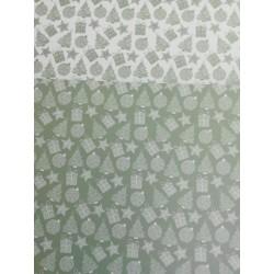 Cartolina Matálica de Natal Verde