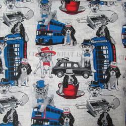 Tecido adesivado cães