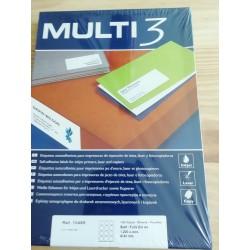"1.200 Folhas Autocolantes circulares  "" Multi3"""