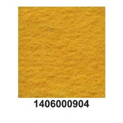 Feltro lã merino grosso amarelo ouro